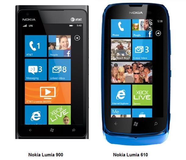 Nokia Lumia 900 & 610