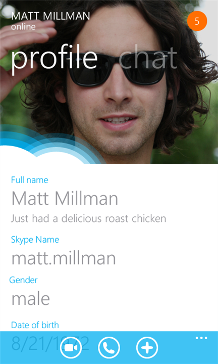Skype for Windows phone