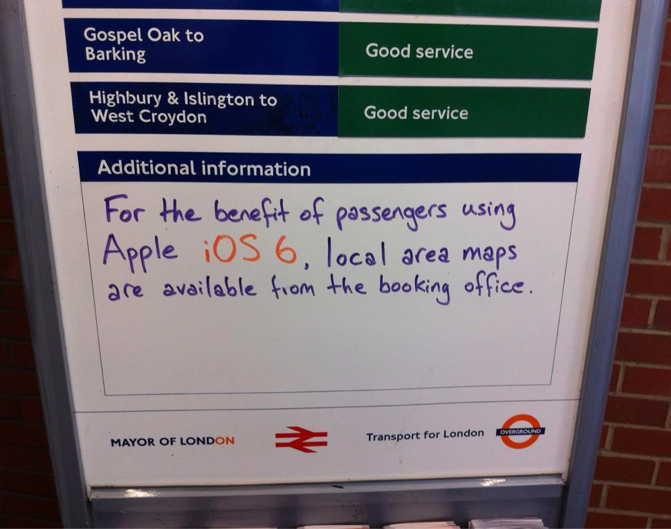 London underground Apple Maps