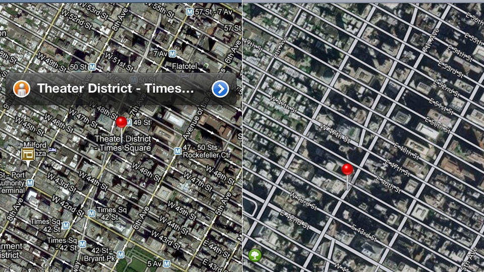 Google maps vs. apple maps