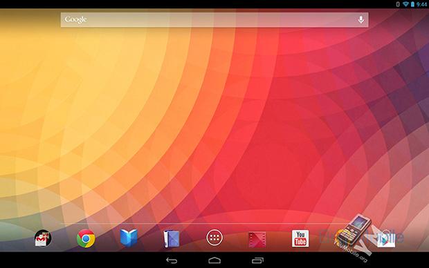 Nexus 10 homscreen