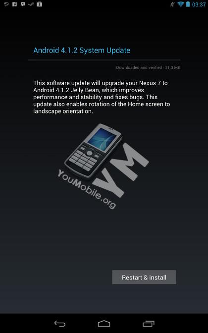 Nexus7 4.1.2 Update