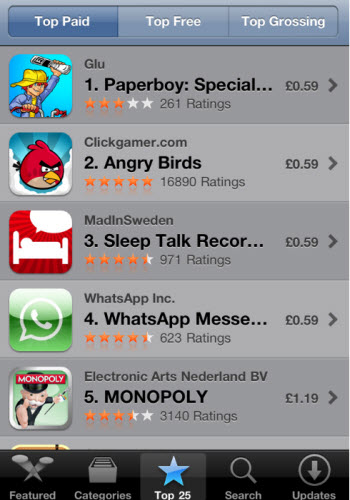 App Store Top paid Apps