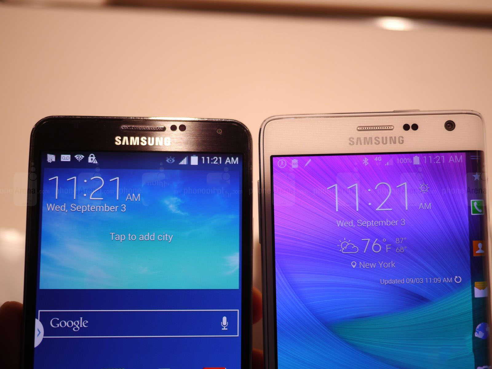 Note 4 edge vs note 3