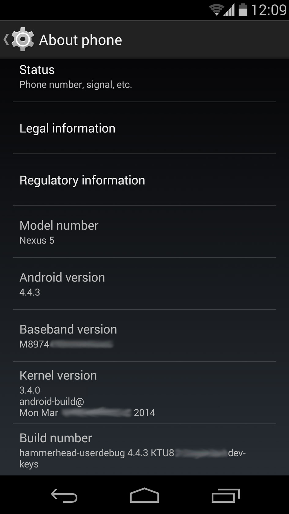 Android 4.4.3 Screenshot