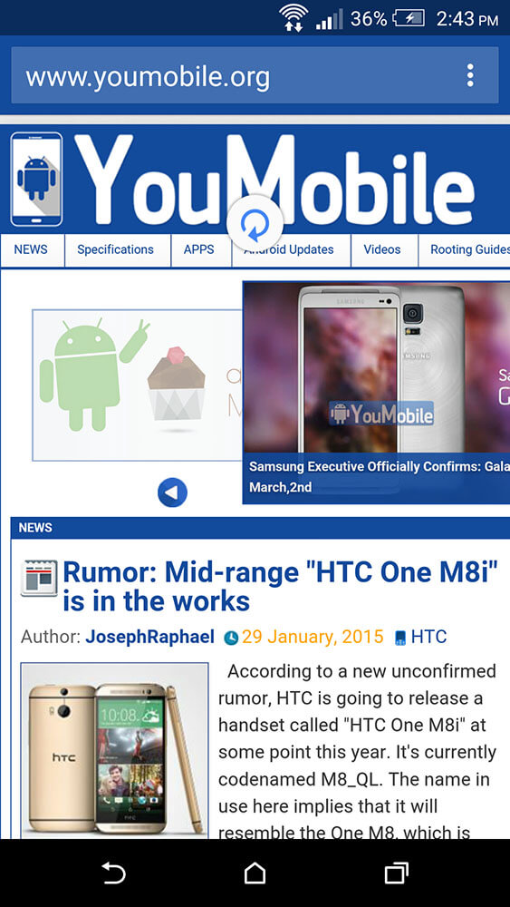 youmobile chrome beta v41