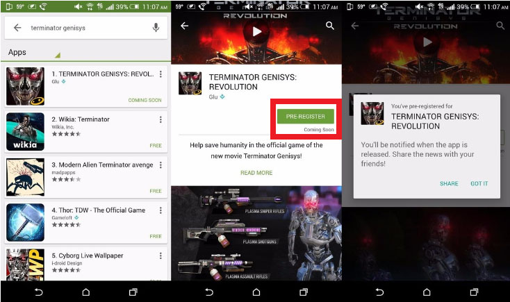 pre register apps on google play