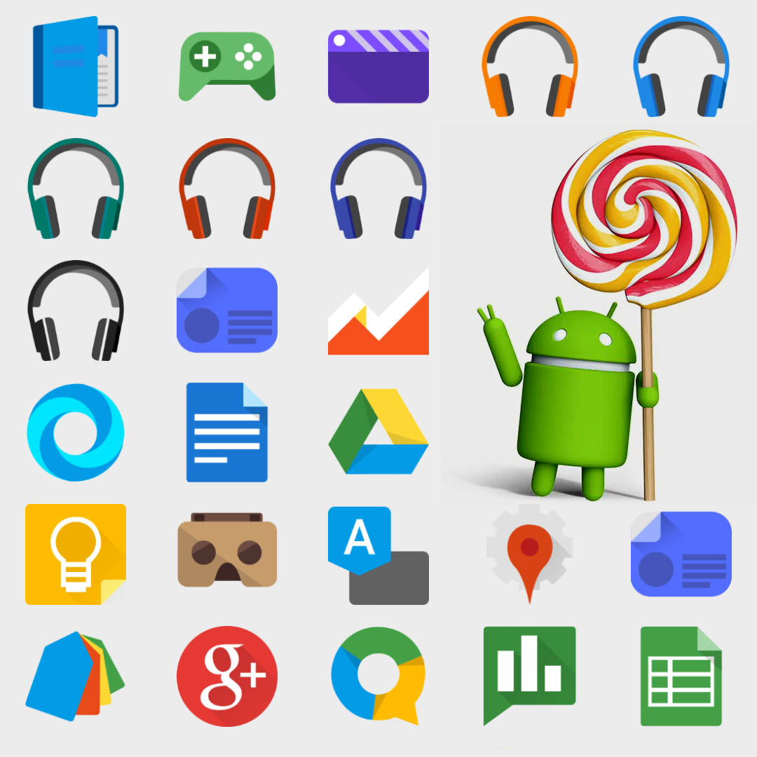 Lollipop icons