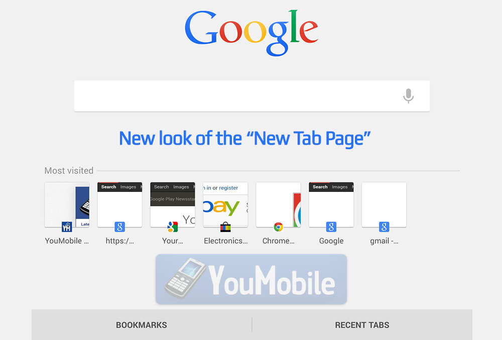 Google New look NTP