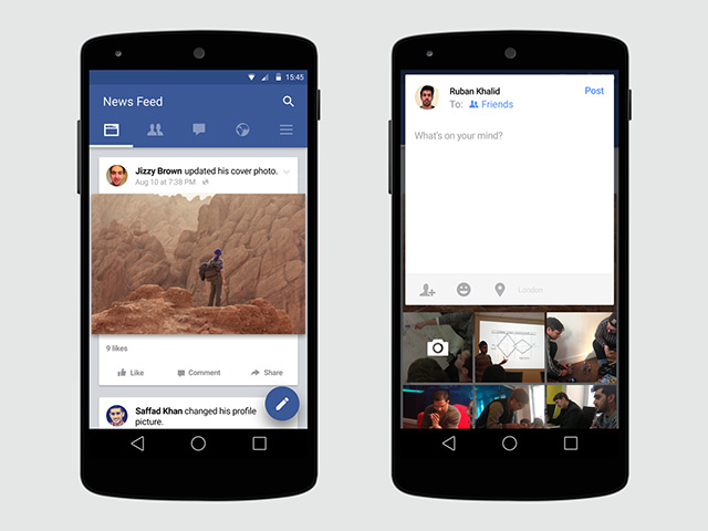 Facebook is Testing a New Full Material Design UI update to its
