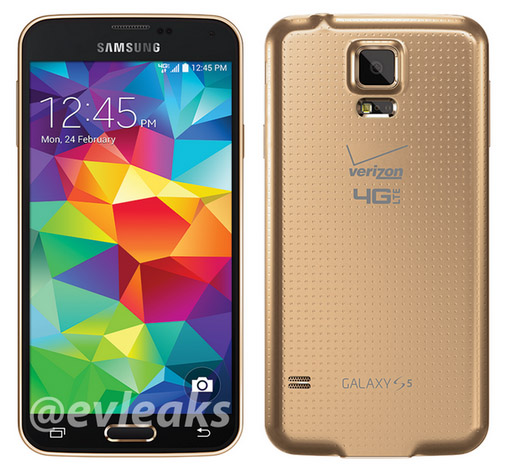 Galaxy S5 Gold Copper