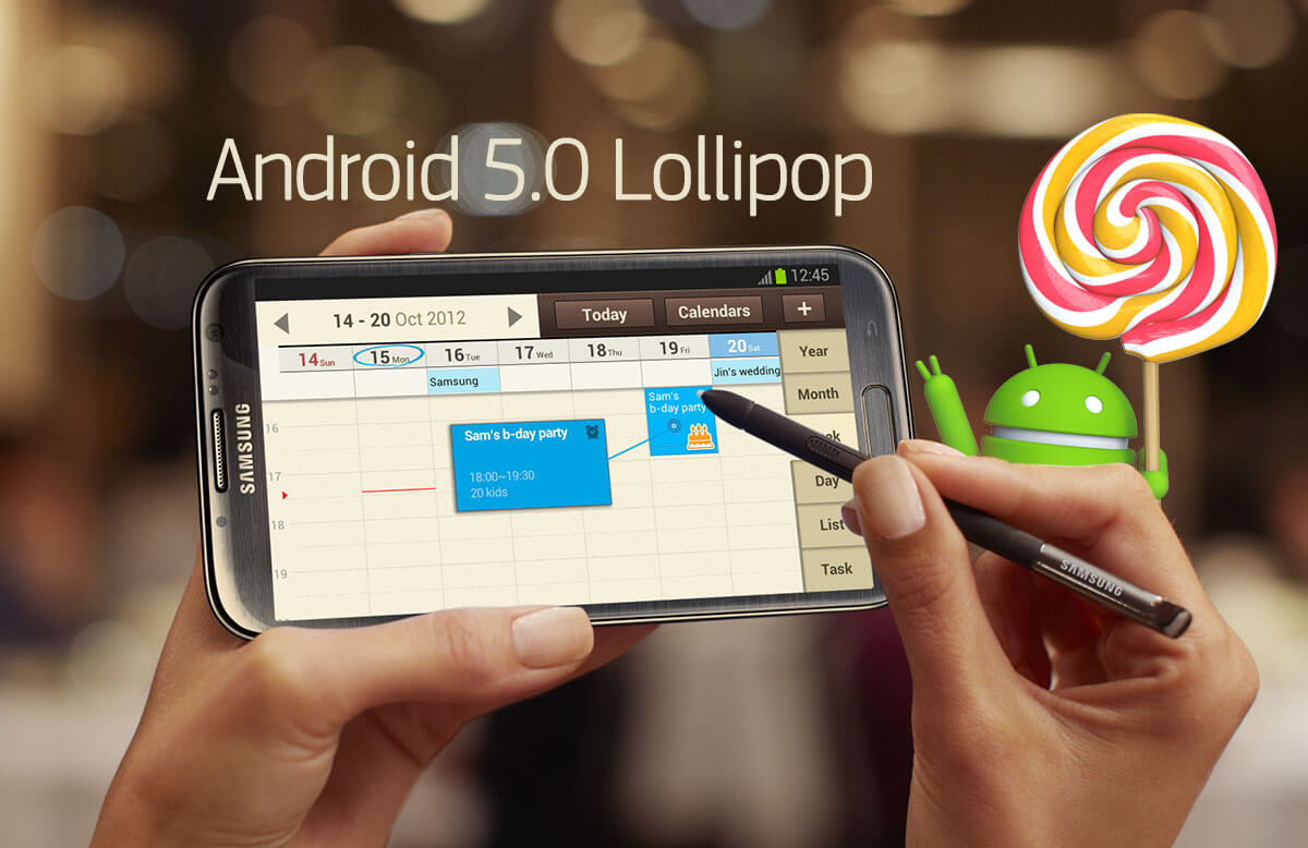 Samsung Officially Confirms Lollipop update for Galaxy Note