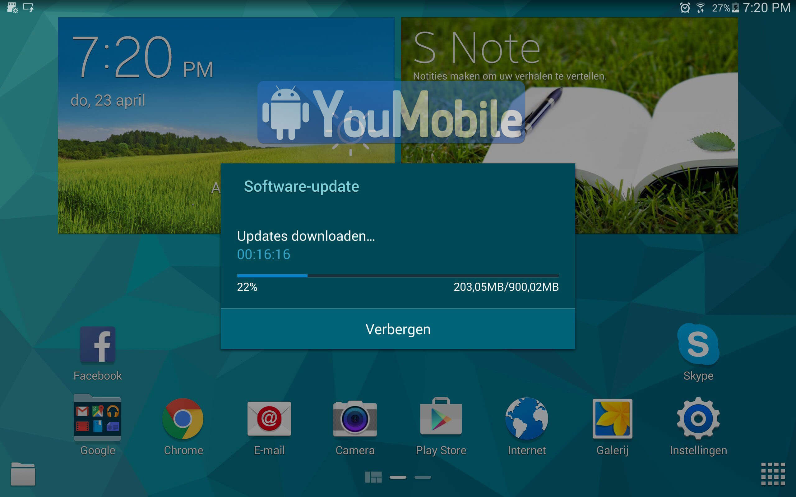 Galaxy Tab S  10.1 LTE Lollipop