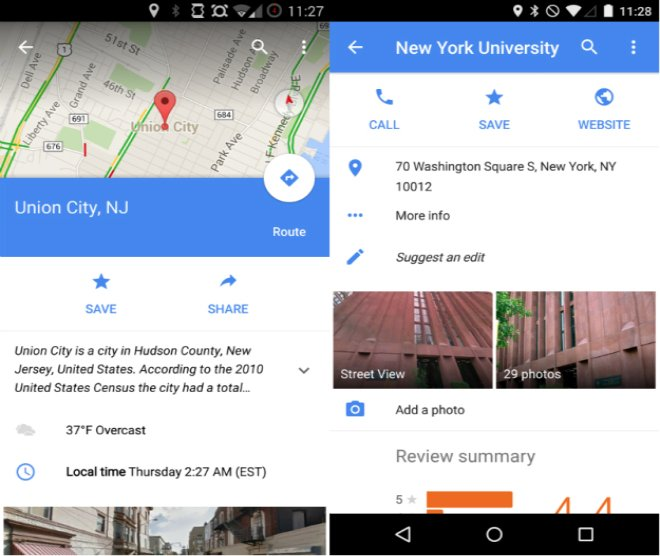 Google maps 9.1 screenshot