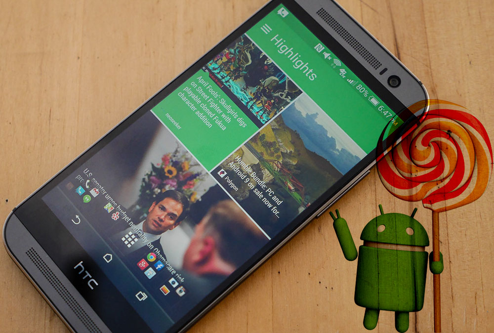 HTC One M8 Lollipop 5.1