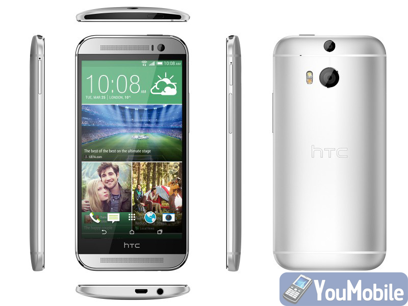 HTC One M8 All sides