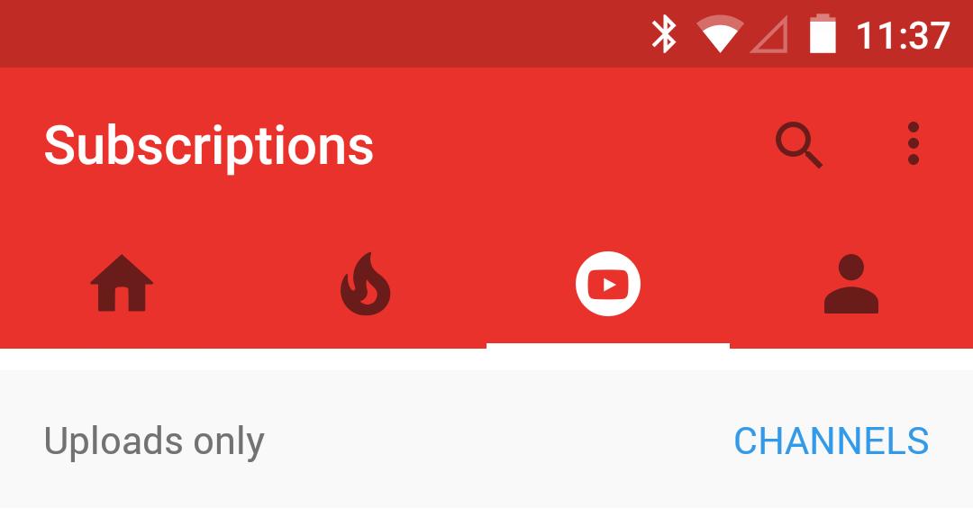Google Updates the YouTube App and removing the Hamburger Menu