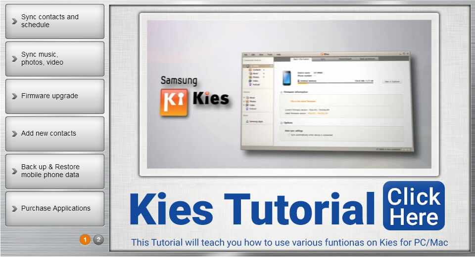 Click to Open KIES Tutorial [Flash]