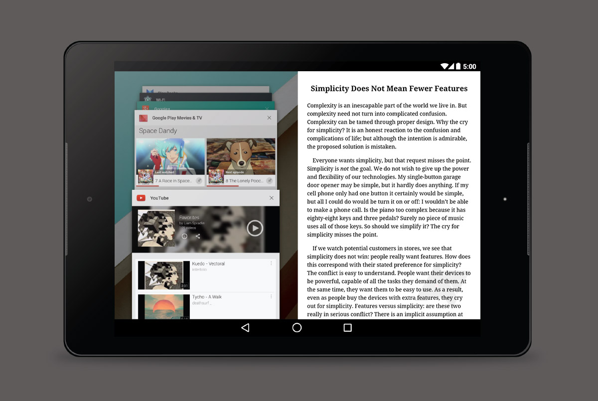 Android L Multi-window