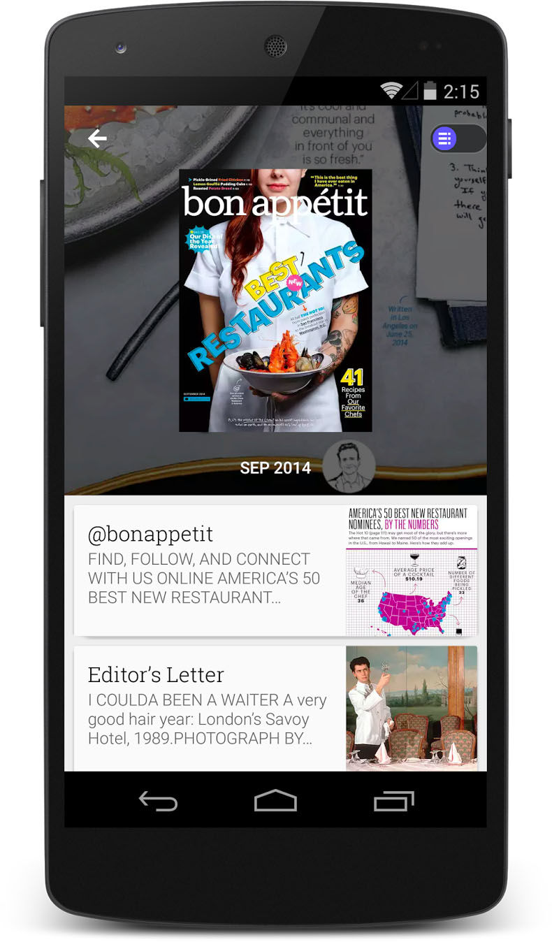 nexus 5 its been almost one year since google unveiled the new play newsstand app for android