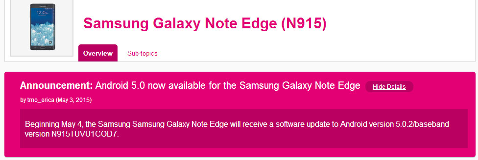 Firmware Download] T-Mobile Samsung Galaxy Note Edge N915T