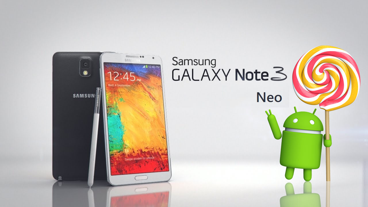 Note 3 Neo Lollipop rolling-out