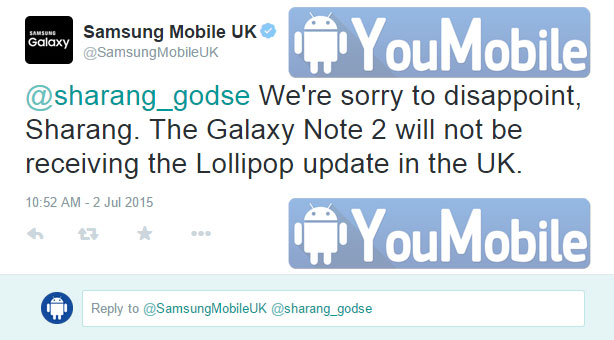 Galaxy Note 2 lollipop