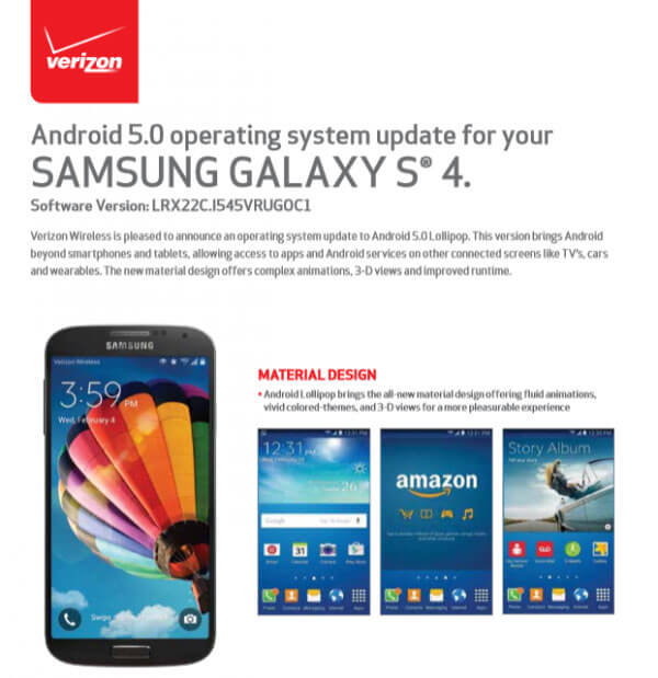 Firmware Download] Verizon's Samsung Galaxy S4 (SCH-I545) Android