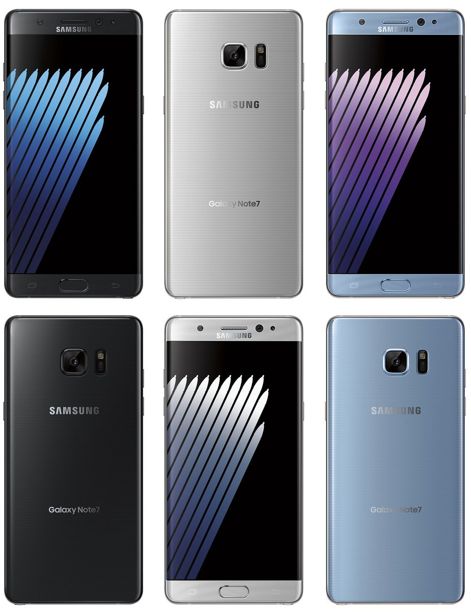 Samsung galaxy s7 edge olympic edition will unveil on july 7 mobile - Evan Blass From Evleaks Has Just Released A Few Renders Online Via Twitter And They Show The Three Colors Of The Samsung Galaxy Note 7 In Full Flurry