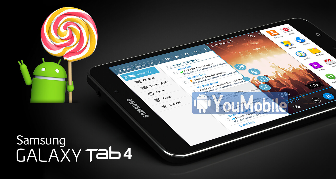 Galaxy Tab 4 7.0 Lollipop