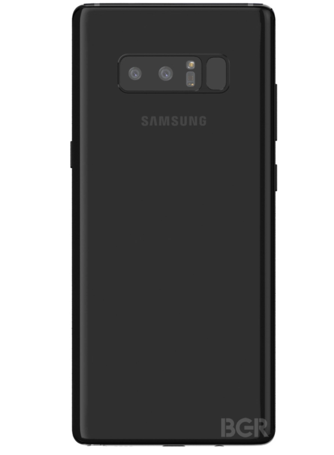 Case maker 39 s renders show the galaxy note 8 from all angles for Galaxy maker