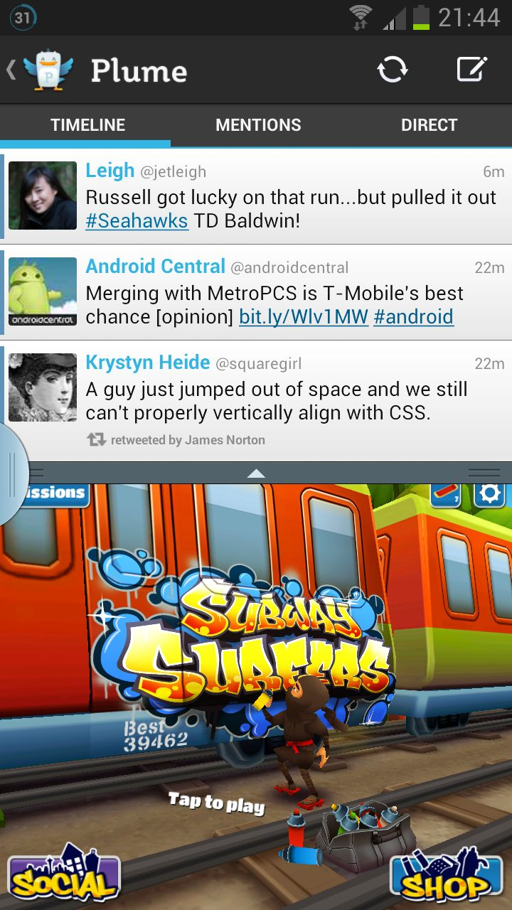 Note II Multi-window