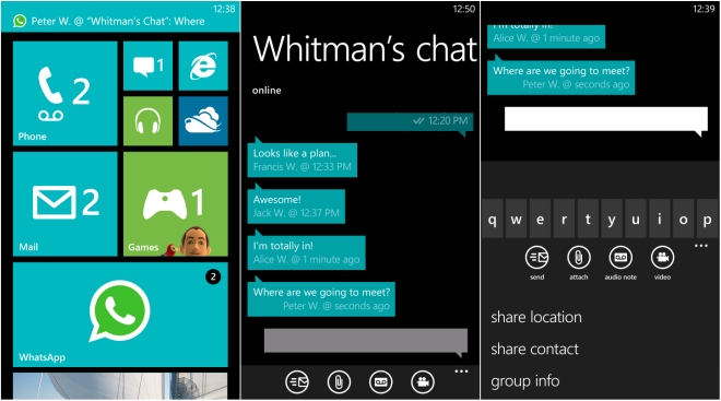 whatsApp for Windows phone 8